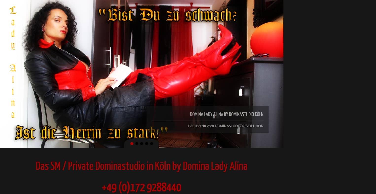 Herrin Lady Alina – Domina Dominastudio Köln Cologne Dominanz SM und BDSM. Die härteste Versuchung, seit es Dominastudio in Köln gibt.